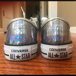 Women's size 7/7.5 iridescent Converse All Stars.
